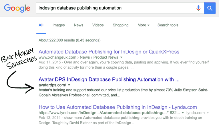 I designed and developed this site. The client created and added the content. Otherwise, it's been more or less left as is for a few years now, but that doesn't stop it from delivering the #2 position on Google.