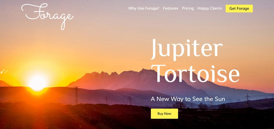 a sun sets against purple mountains majesty in this website example