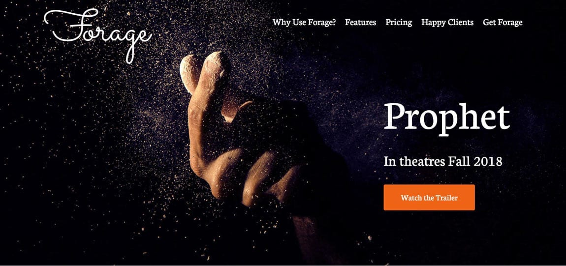 an abstract website concept